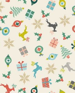 Patchwork Cotton Fabric - Merry Xmas - Scatter