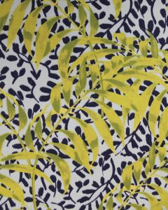 Cotton Sateen Fabric - Mediterranean Vines