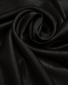 Luxury Satin Fabric - Black