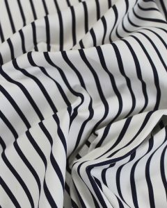 Cotton Twill Fabric - Navy Stripe