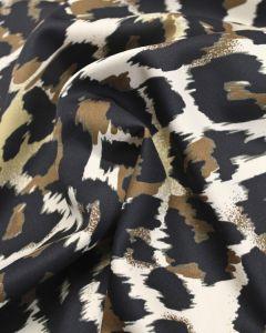 Scuba Jersey Fabric - Leopard Print
