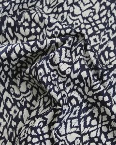 Cotton Twill Fabric - Lisbon in Navy