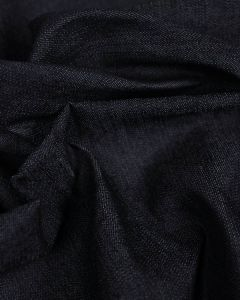 Stretch Cotton Denim Fabric - Dark Blue