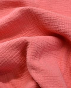 Cotton Double Gauze Fabric - Coral