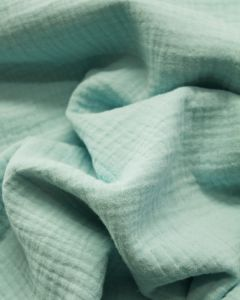 Cotton Double Gauze Fabric - Pale Turquoise