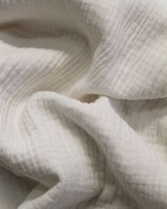 Cotton Double Gauze Fabric - Ivory