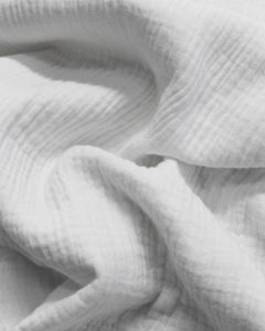 Cotton Double Gauze Fabric - White