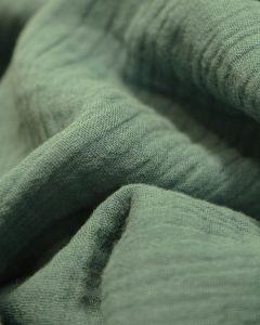 Cotton Double Gauze Fabric - Persian Green