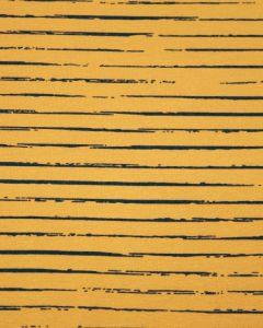 Cotton Jersey Fabric - Sketch Stripe Mustard
