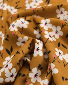 Rayon Fabric - Soiree Spring Ochre