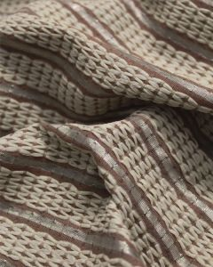 Bamboo Blend Fabric - Couch Stripe Coffee