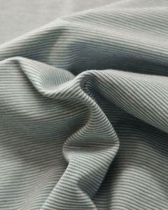 Cotton Jersey Fabric - Skinny Stripe Spearmint