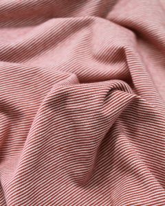 Cotton Jersey Fabric - Skinny Stripe Red