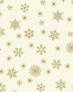 Patchwork Cotton Fabric - Snowflakes on Ivory