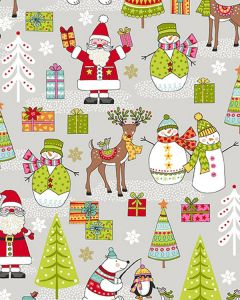 Patchwork Cotton Fabric - North Pole