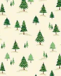 Patchwork Cotton Fabric - Mini Trees