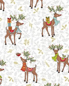 Patchwork Cotton Fabric - Rudolph and Friends