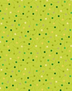 Patchwork Cotton Fabric - Shooting Stars Green