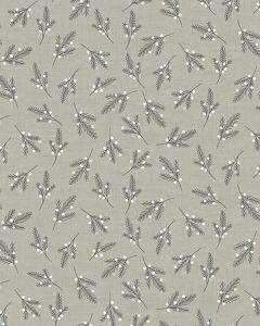 Patchwork Cotton Fabric - Sprigs on Grey