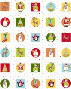Patchwork Cotton Fabric - Jolly Tiles