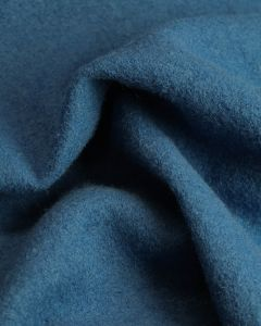 Boiled Pure Wool Jersey Fabric - Blue