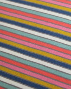 Cotton Jersey Fabric - Candy Stripes