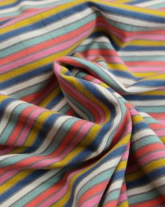 REMNANT Cotton Jersey Fabric - Candy Stripes