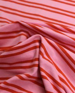 Cotton Jersey Fabric - Double Breton Pink