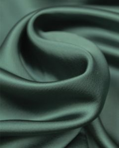 Luxury Satin Fabric - Forest Green