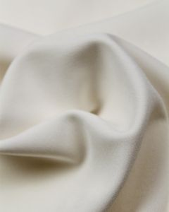 Satin Backed Crepe Fabric - Ivory