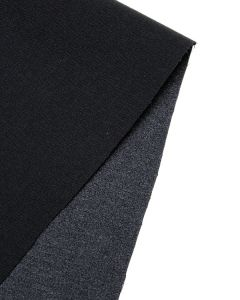 Satin Backed Crepe Fabric - Ink