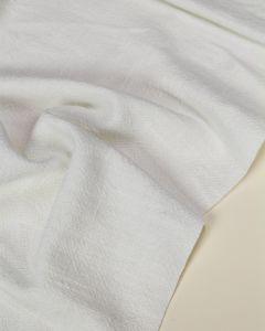 Stonewashed Linen Fabric - White