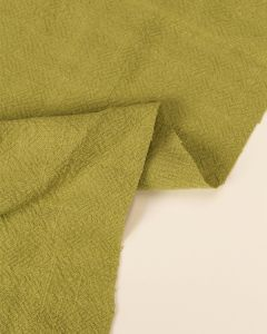 Stonewashed Linen Fabric - Pesto