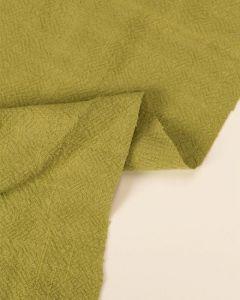 REMNANT Pesto Stonewashed Linen Fabric - 100cm x 130cm