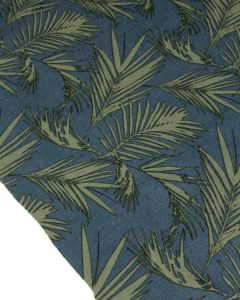 Viscose & Linen Fabric - Midnight Palms