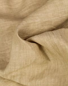 Yarn Dyed Linen Fabric - Sandcastle
