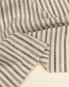 Linen & Viscose Fabric - Mono Stripe