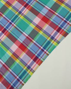 Cotton Madras Fabric - Seaside