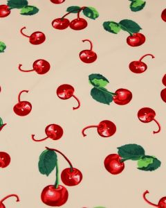 Cotton Sateen Fabric - Cherry Bomb