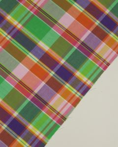 Cotton Madras Fabric - Tutti Frutti