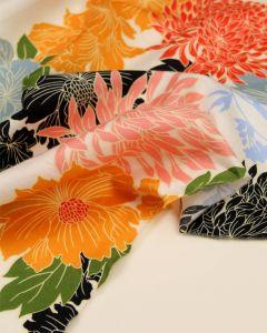 Cotton Sateen Fabric - Osaka Floral