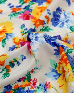 Cotton Voile Fabric - Festival Flower