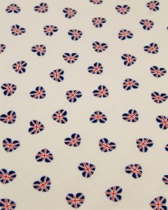 Patchwork Cotton Fabric - Union Flag Hearts