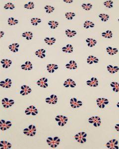 Patchwork Cotton Fabric - Union Flag Hearts