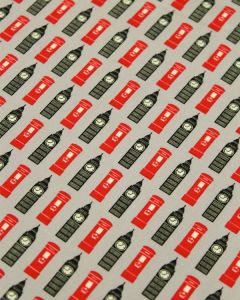 Cotton Poplin Fabric - Big Ben Grey