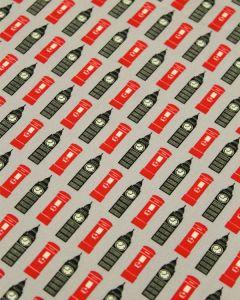 Cotton Poplin Fabric - Big Ben Grey