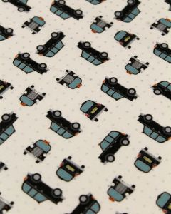 Patchwork Cotton Fabric - City Cab Ivory