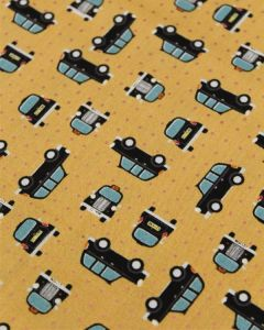 Patchwork Cotton Fabric - City Cab Copper