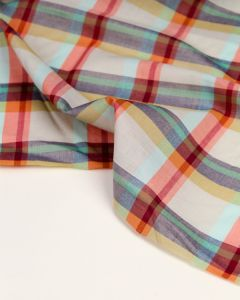 Cotton Madras Fabric - Masala