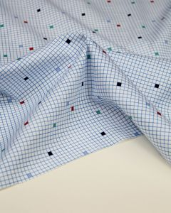 Ex Designer - Cotton Shirting Fabric - Bored in Maths